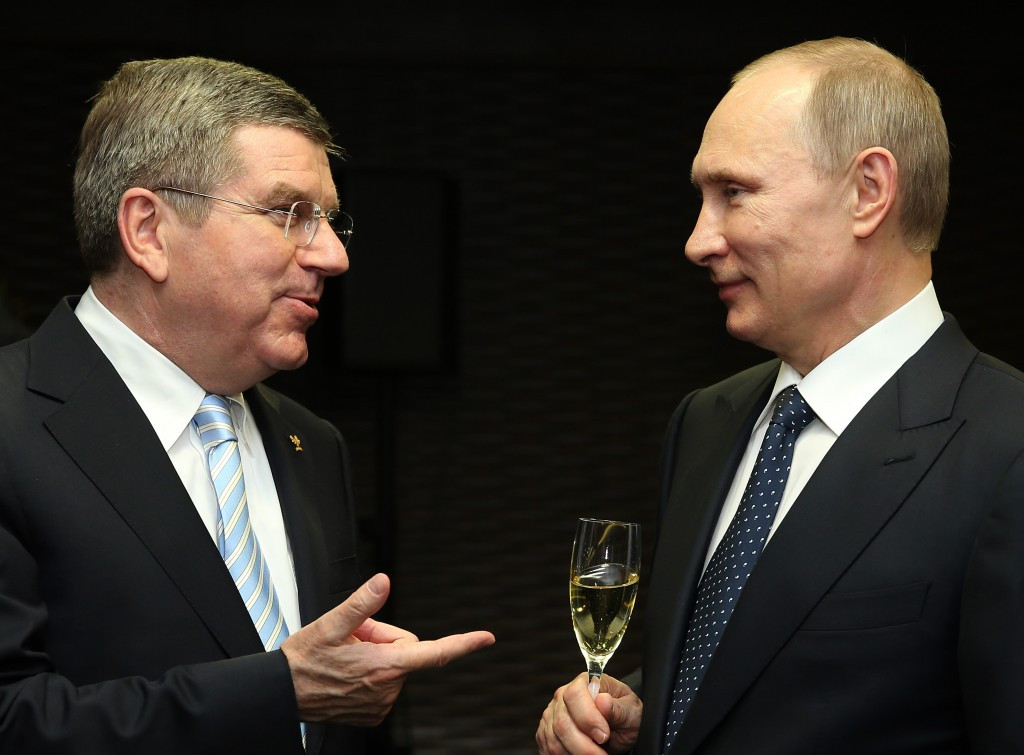 Thomas Bach's close relationship with Russian President Vladimir Putin has often been criticised ©Getty Images