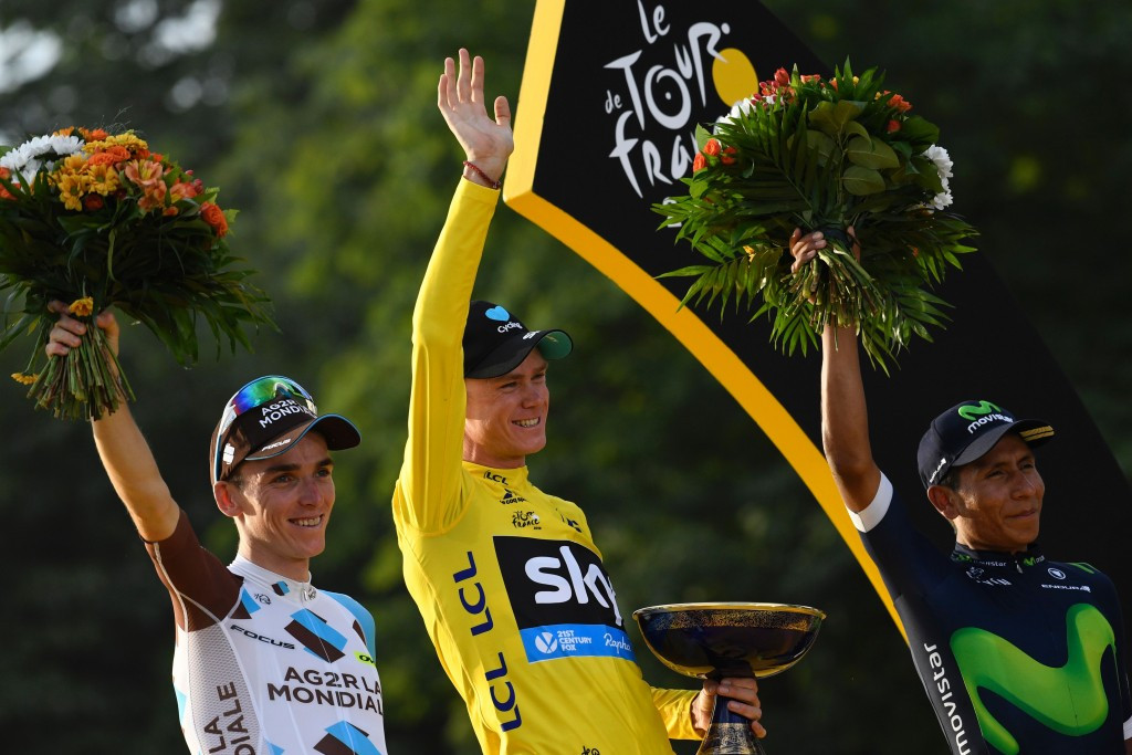 Chris Froome claimed his third Tour de France victory ©Getty Images