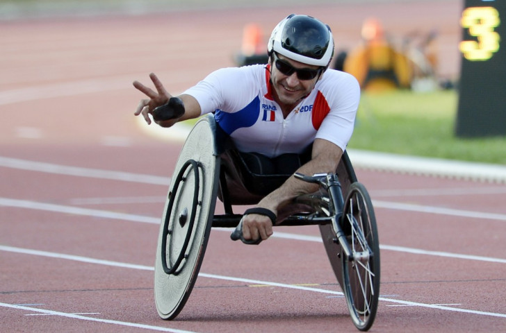 France's Pierre Fairbank won all three of his races over 100m, 400m and 800m