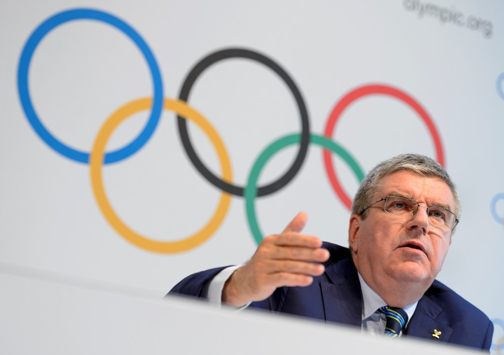 IOC President Thomas Bach has come under fire for the decision not to completely exile Russia from next month's Games ©Getty Images