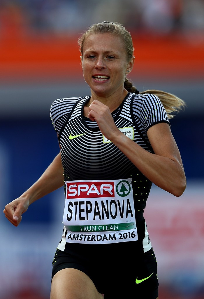 Yuliya Stepanova has been barred from competing at Rio 2016 ©Getty Images