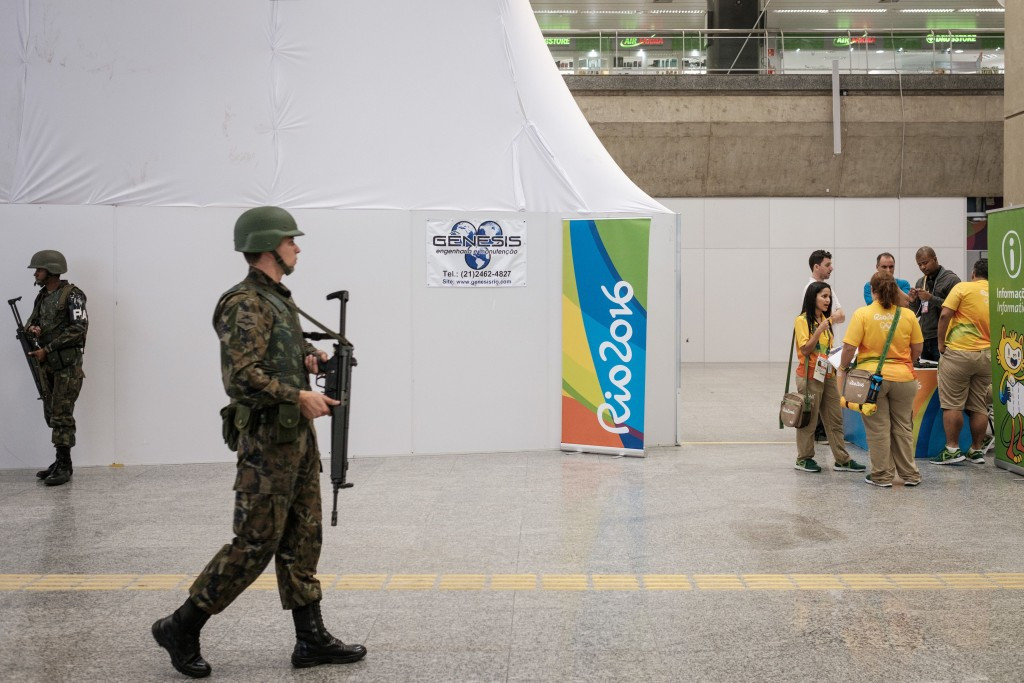 Around 85,000 soldiers, police officers and security personnel are due to be working during the Games ©Getty Images