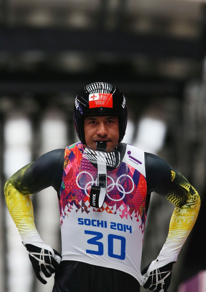 Bruno Banani is Tonga's only Winter Olympian ©Getty Images