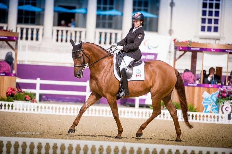 Lauren Barwick has been named in Canada's equestrian team for the Rio Paralympics ©CPC
