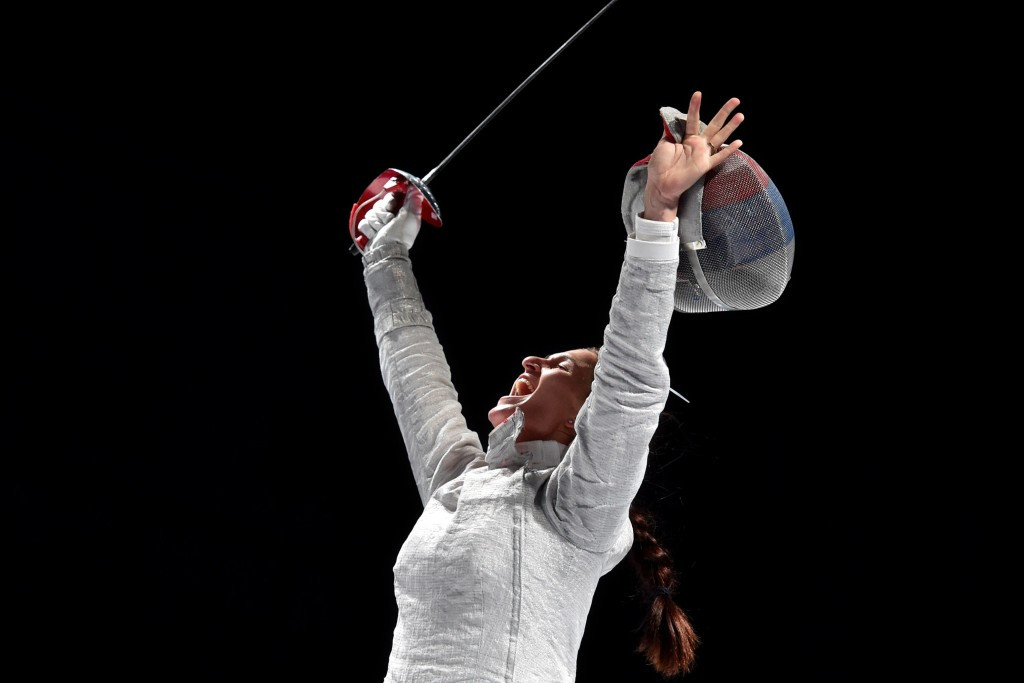 Women's sabre world champion Sofiya Velikaya will be one of Russia's 16-strong fencing team ©Getty Images