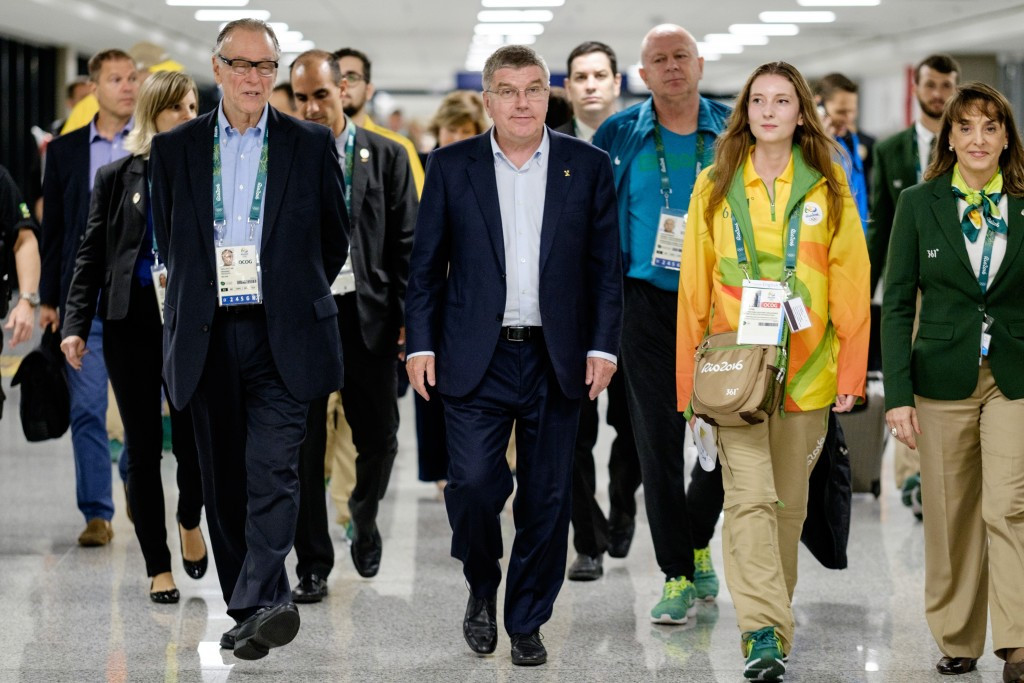 """IOC President Thomas Bach (centre) has been labelled as """"part of the doping system"""" by Robert Harting ©Getty Images"""