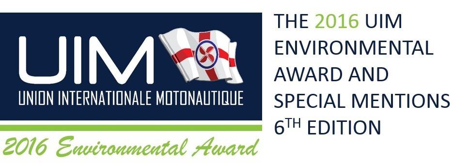International Union of Powerboating launch 2016 Environmental Award