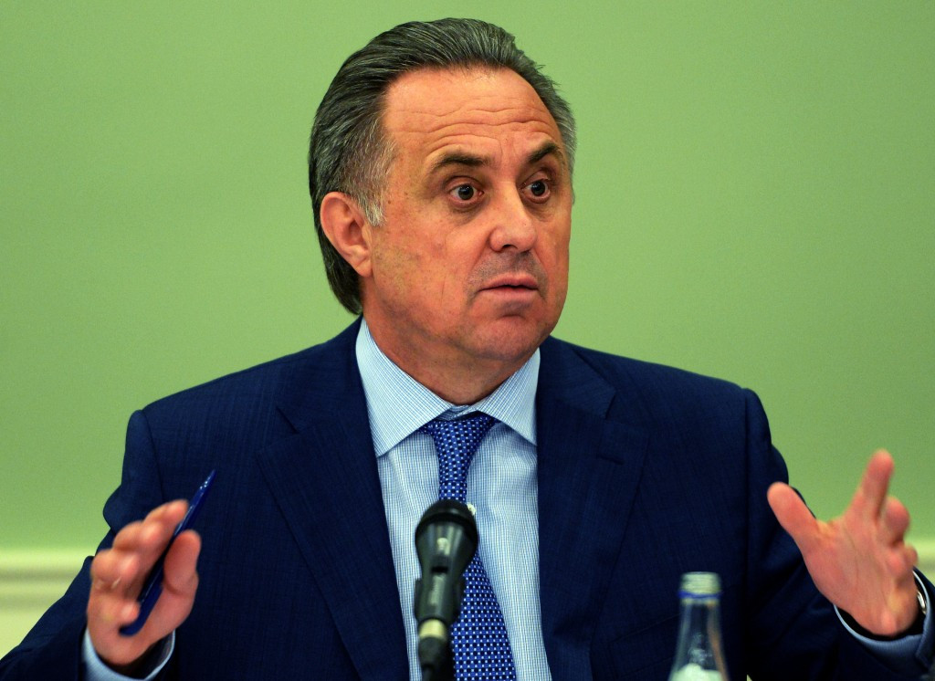 Vitaly Mutko will not attend the Rio 2016 Olympic Games ©Getty Images