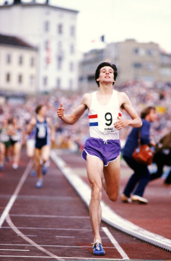 Sebastian Coe sets a new mile world record at Oslo's Bislett Stadium in 1979