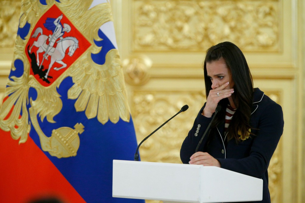 Yelena Isinbayeva has denied claims she was offered the chance to be Russia's flagbearer at the Rio 2016 Opening Ceremony ©Getty Images