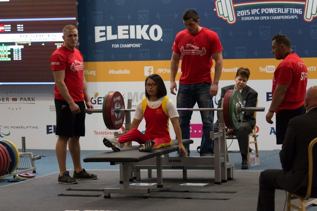 China finished the 2015 edition of the IPC Powerlifting European Open Championships on top of the medals table ©Facebook/2015 IPC Powerlifting European Open Championships