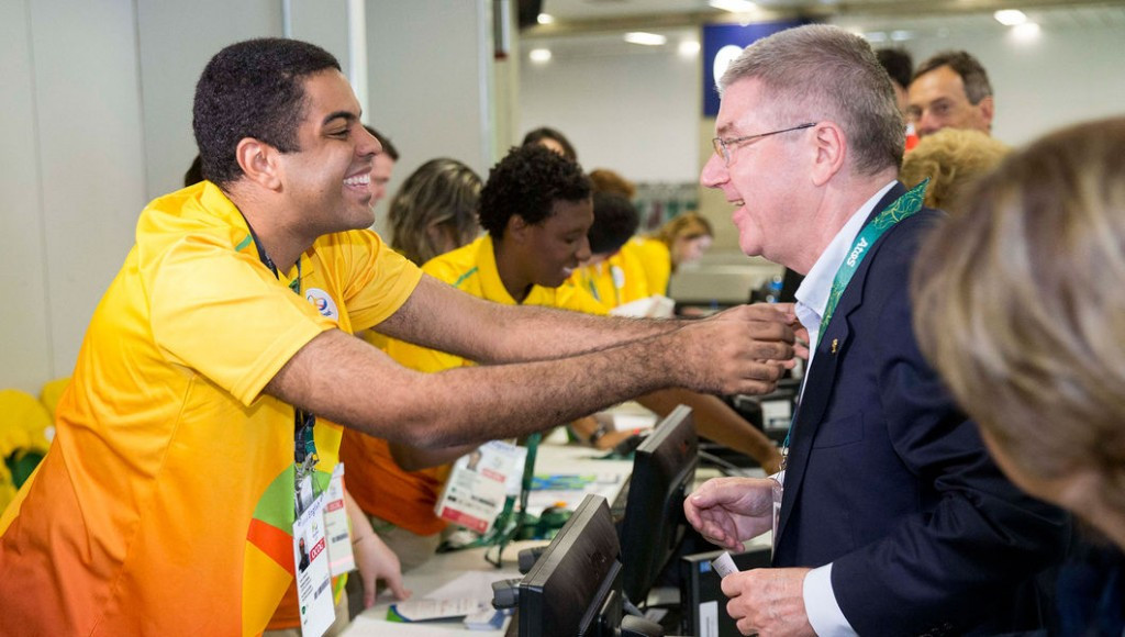IOC President Thomas Bach has arrived in Rio 2016 for the start of the Olympic Games ©IOC