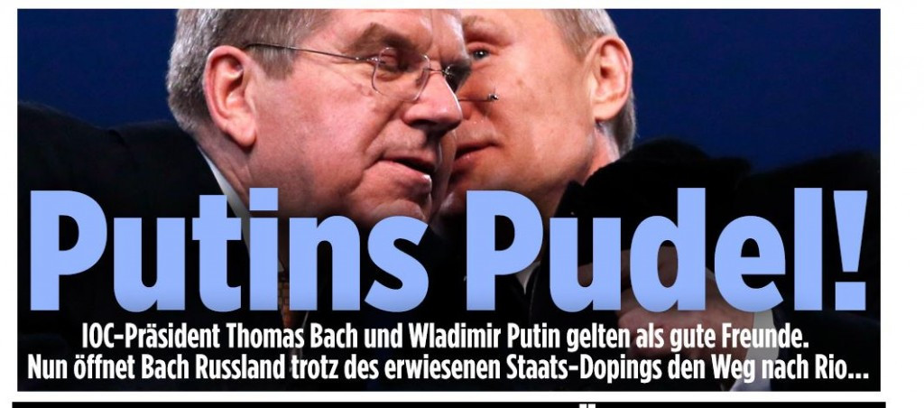 Germany's best selling newspaper Bild has called Thomas Bach