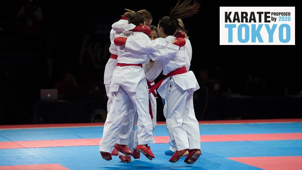 Karate is one of five sports hoping to secure a place on the Olympic programme for Tokyo 2020 ©WKF