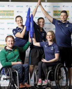 Australian Paralympic athletes launch Optus' #High5 a Paralympian fundraising campaign