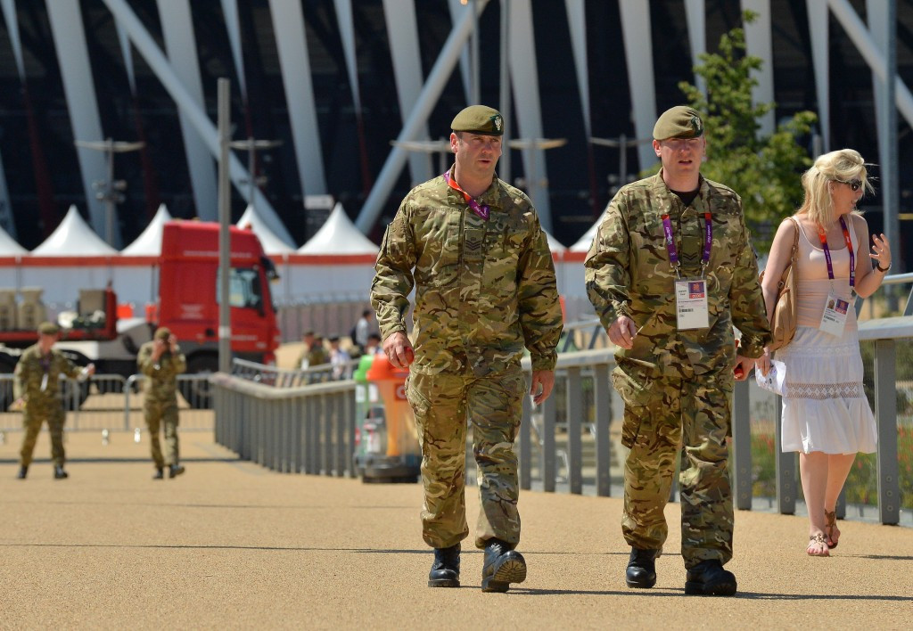 Armed forces were recruited to help with security shortly before the London 2012 Games ©Getty Images