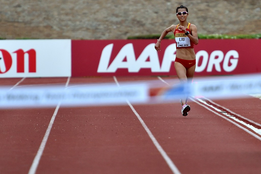 Liu Hong failed a doping test at the IAAF World Race Walking Team Championship in Rome ©Getty Images