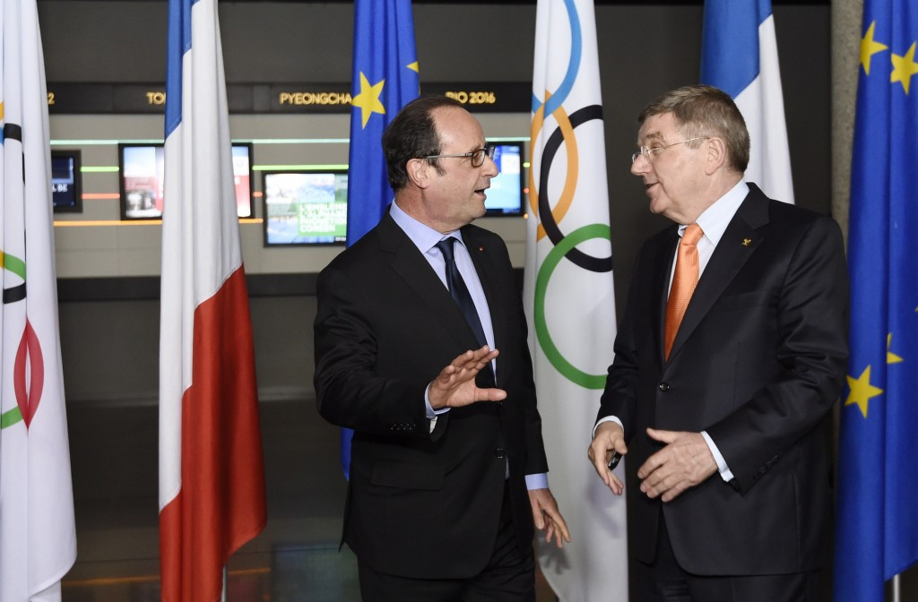 French President François Hollande is expected to meet IOC counterpart Thomas Bach at Rio 2016 ©Getty Images