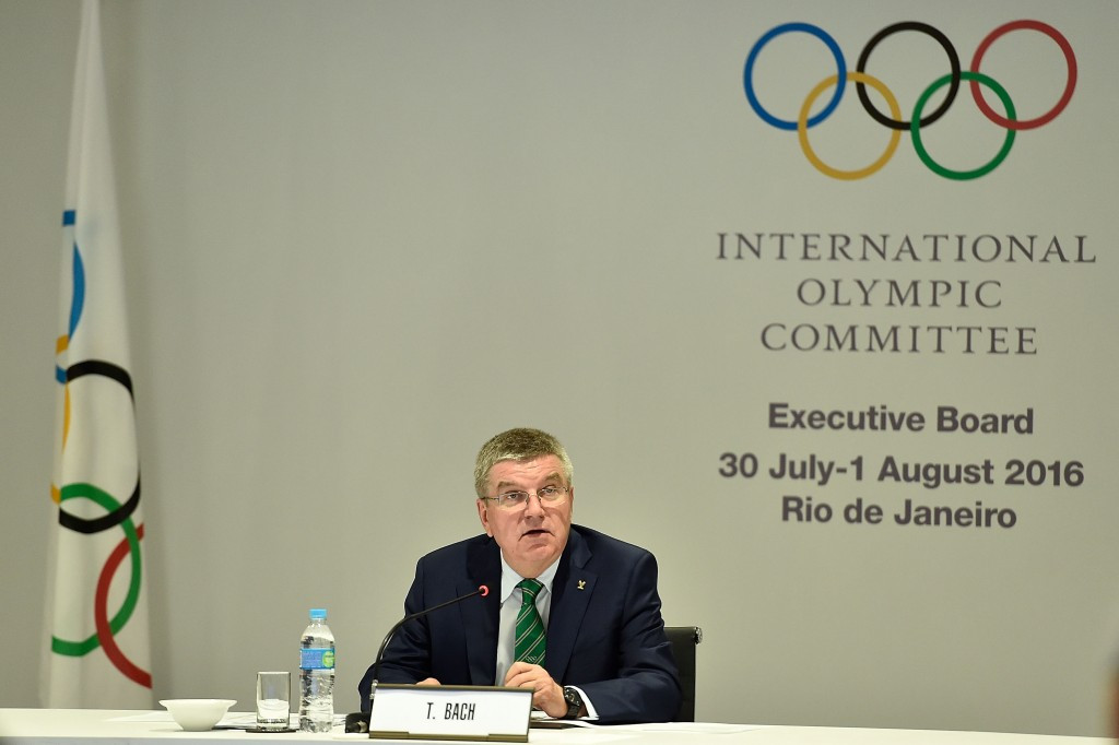 IOC President Thomas Bach chaired today's IOC Executive Board meeting ©Getty Images