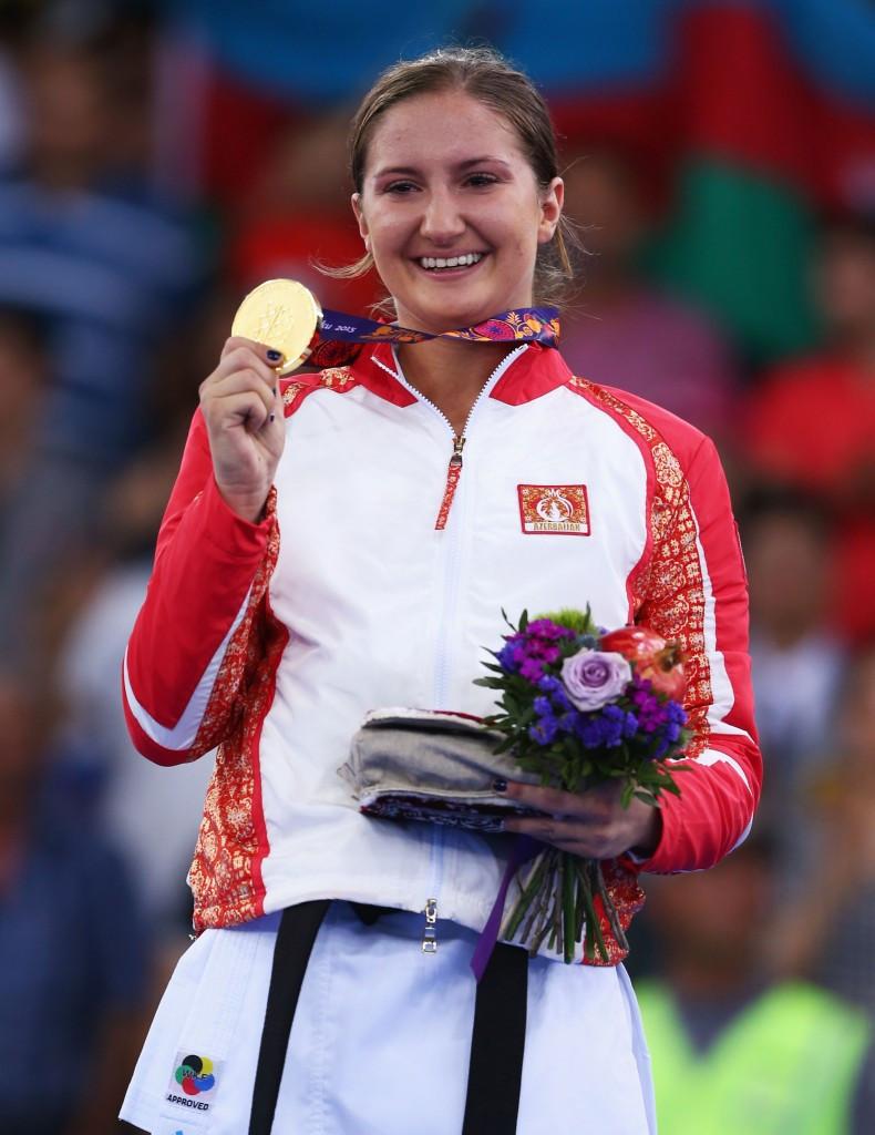 Irina Zaretska was one of two Azerbaijani gold medal winners here this evening ©Getty Images