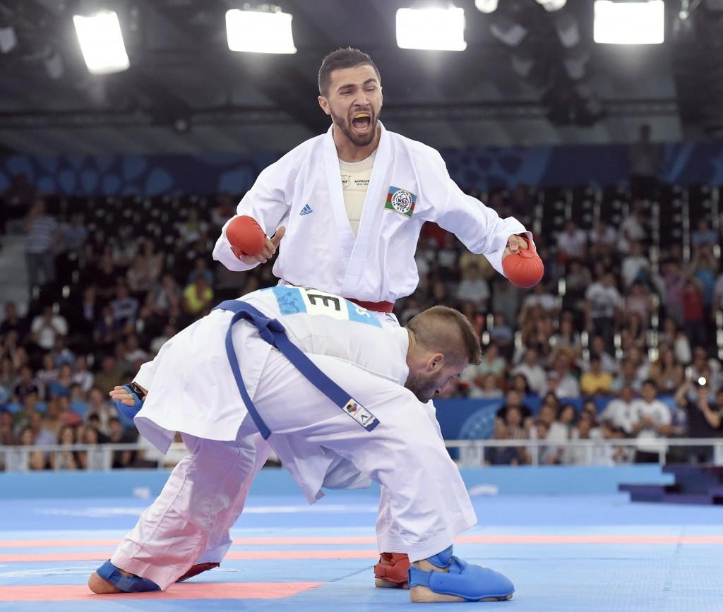 Azerbaijan's Aykhan Mamayev edged his men's under 84kg final against Greece's Michail Georgios Tzanos