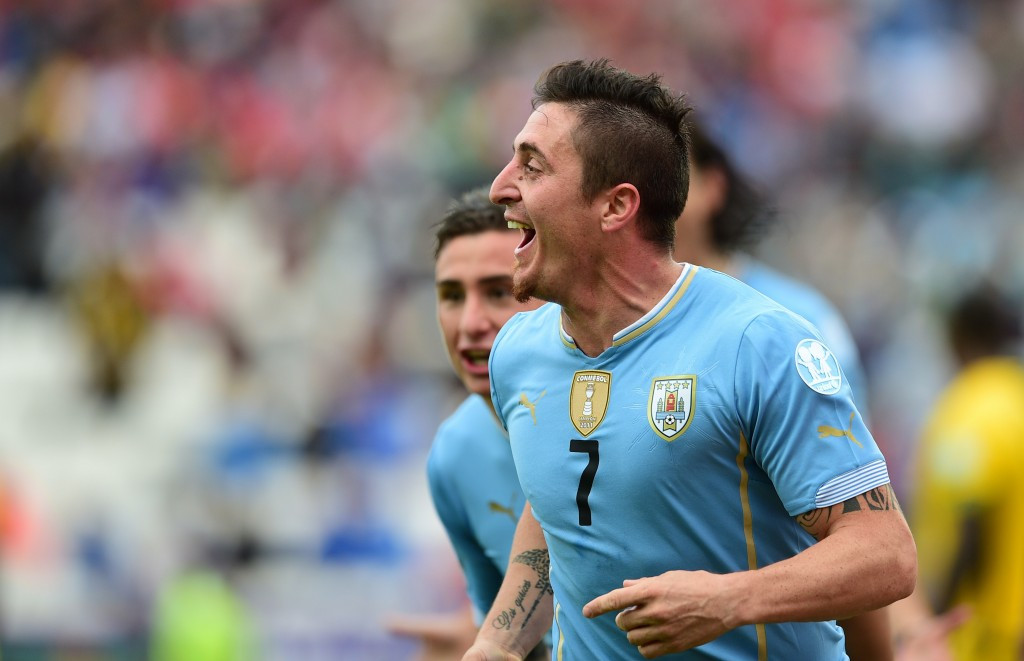 Cristian Rodriguez scored Uruguay's winner against Jamaica ©Getty Images