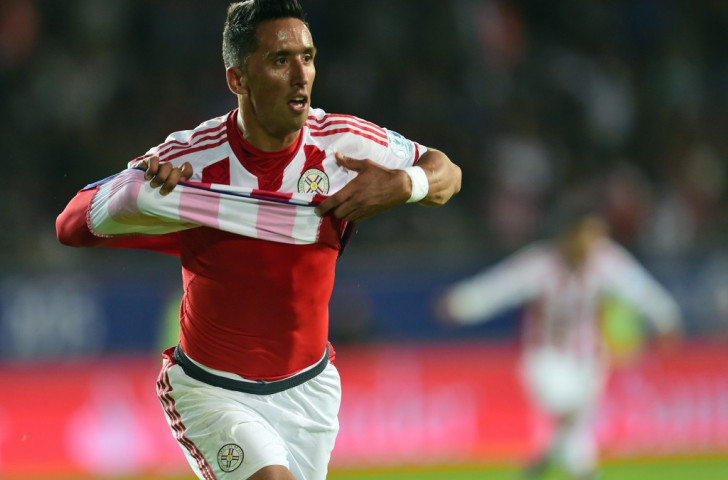 Paraguay's Lucas Barrios denied Argentina victory with a late equaliser