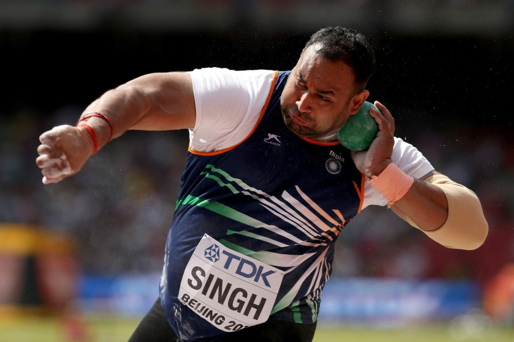 Indian shot putter Inderjeet Singh has failed a second drugs test, reports claim ©Getty Images