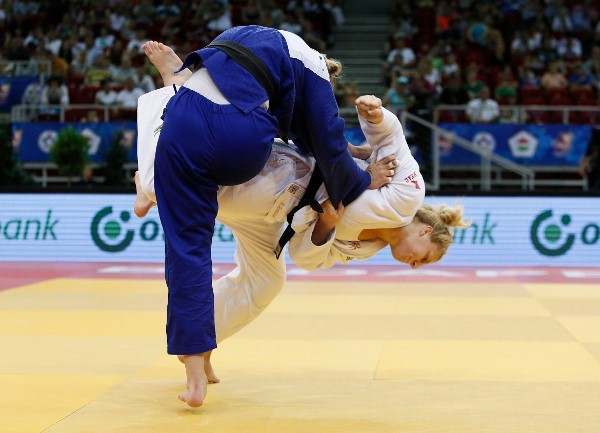 Kayla Harrison won the women's under 78kg category ©IJF