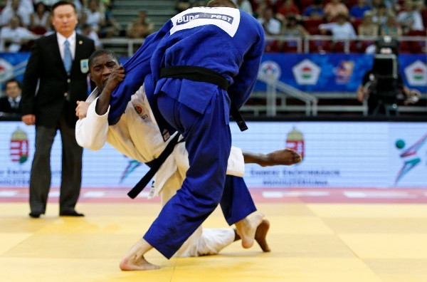 Portugal's Celio Dias celebrated the first IJF gold medal of his burgeoning career