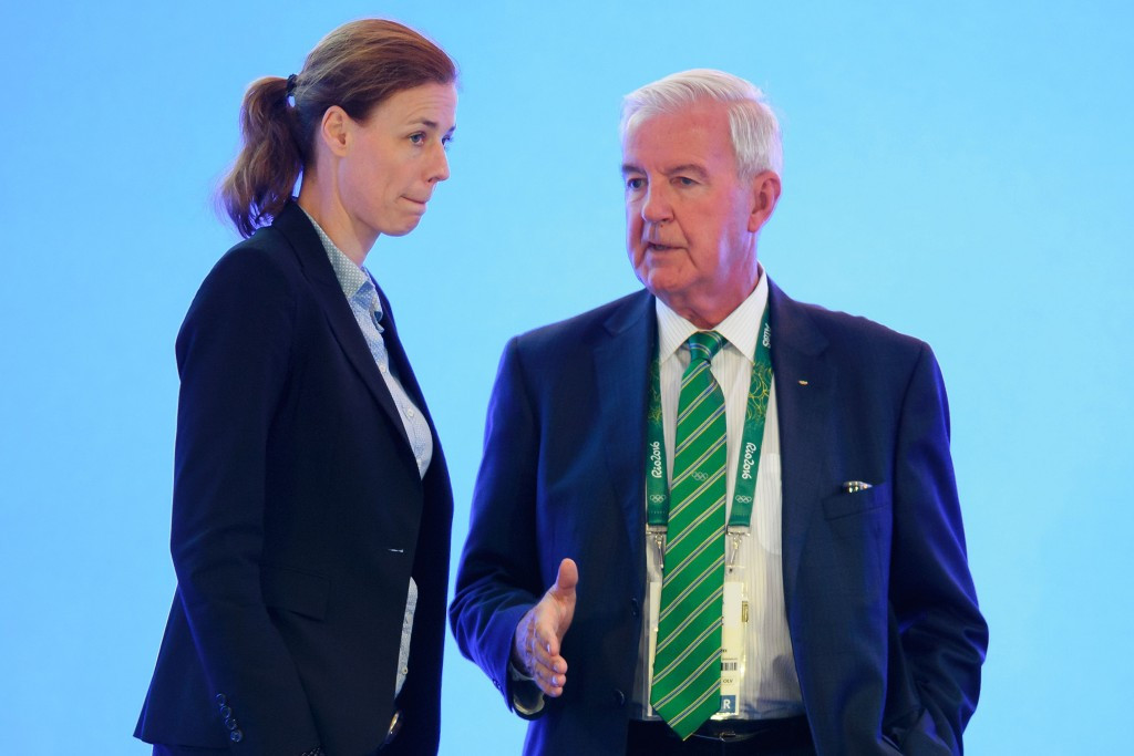 Sir Craig Reedie, with Claudia Bokel, has received criticism from IOC members after WADA uncovered evidence of state-sponsored doping in Russia which left their place at Rio 2016 in jeopardy ©Getty Images
