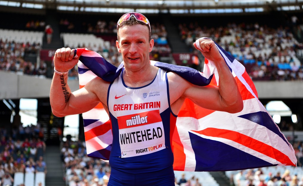 Britain's Richard Whitehead is among the five nominees for the IPC Allianz Athlete of the Month for July after breaking the world record for the T42 200 metres at the Olympic Stadium in London ©Getty Images