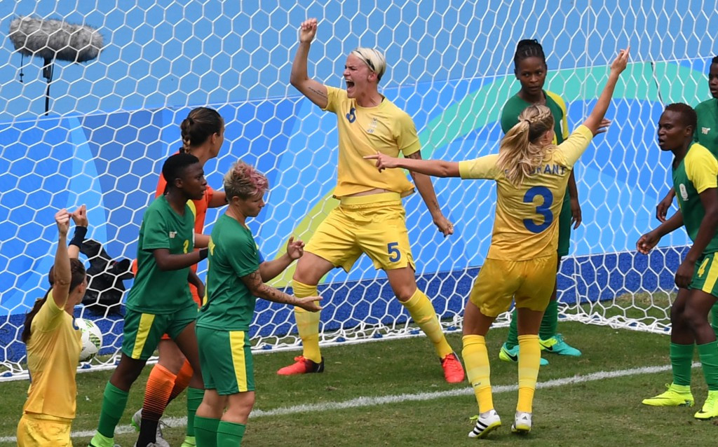 Sweden beat South Africa in front of low crowd as Rio 2016 women's football tournament gets underway