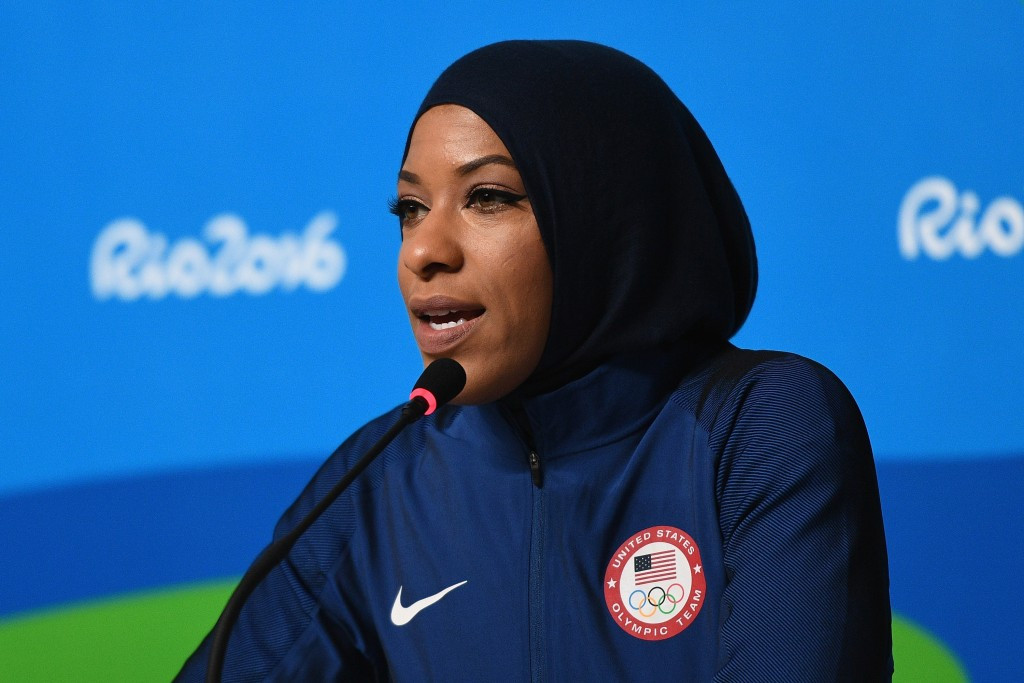 Ibtihaj Muhammad will become the first American Olympian to compete in a hijab ©Getty Images