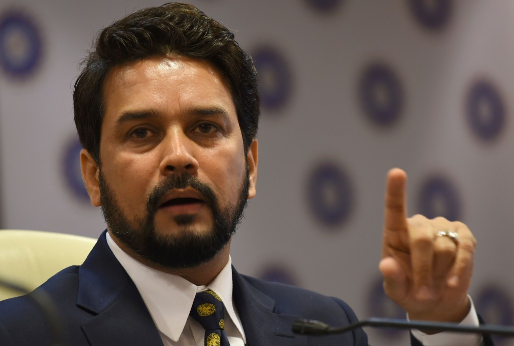 "Anurag Thakur has said his board will continue to oppose the two-tier Test system to ""protect the interests"" of smaller nations ©Getty Images"
