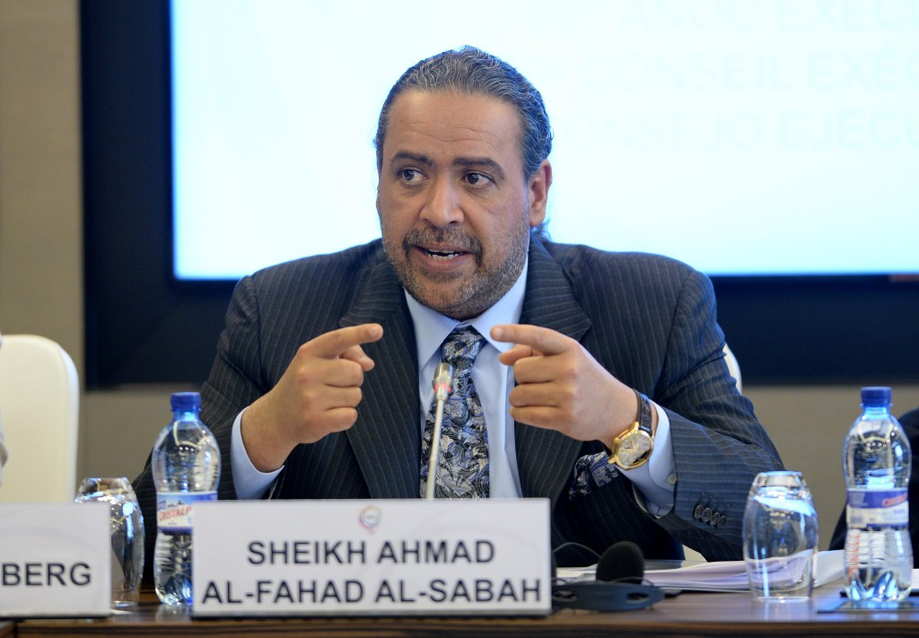 ANOC President Sheikh Ahmad Al-Fahad Al-Sabah chaired the meeting today in Rio ©Getty Images