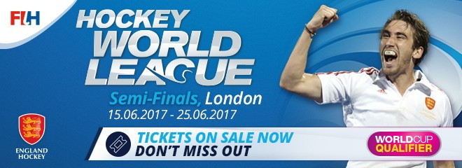 Tickets go on sale for 2017 Hockey World League semi-final in London