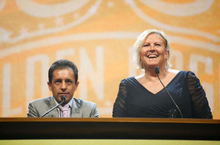 Shirley Babashoff pictured at last year's USA Swimming Golden Goggle Awards in LA ©Getty Images
