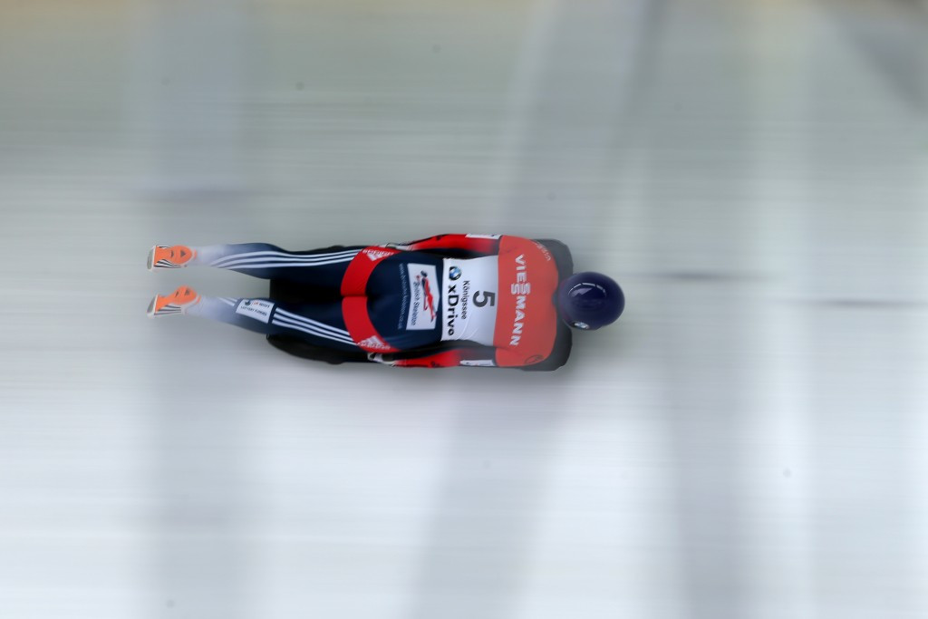 Lizzy Yarnold currently leads the women's skeleton event ©Getty Images