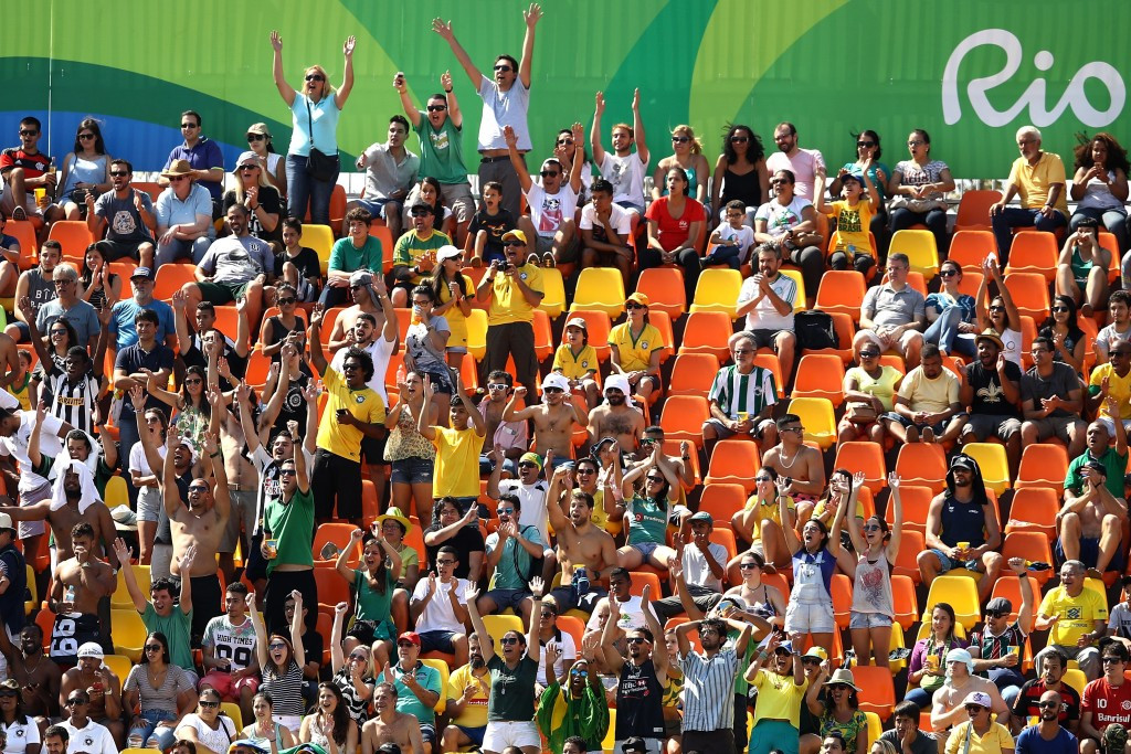 Crowds at the Deodoro Stadium were relatively small but enthusiastic ©Getty Images