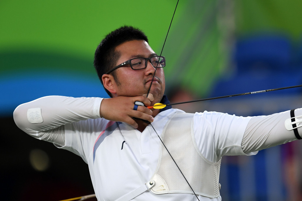 Kim Woojin, snubbed in 2012, follows archery world record with team gold for South Korea