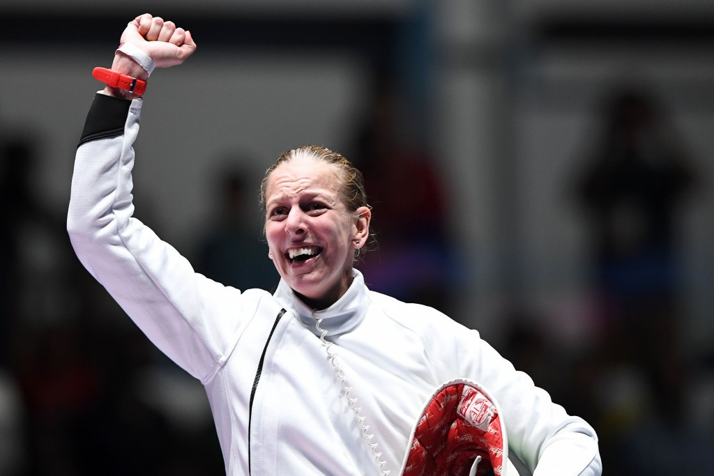Hungarian defeats reigning world champion to win women's épée gold at Rio 2016
