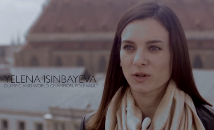Yelena Isinbayeva had last appeared in a campaign video for Sebastian Coe during his successful bid to become President of the IAAF ©Sebastian Coe