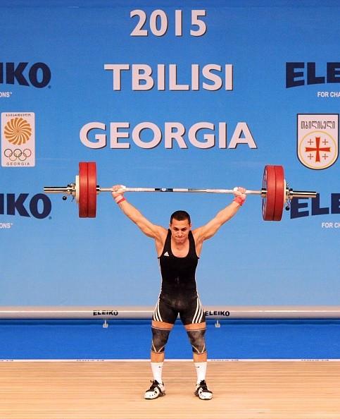 There was gold for Valentin Hristov in the men's under 62kg competition at the European Weightlifting Championships ©Getty Images