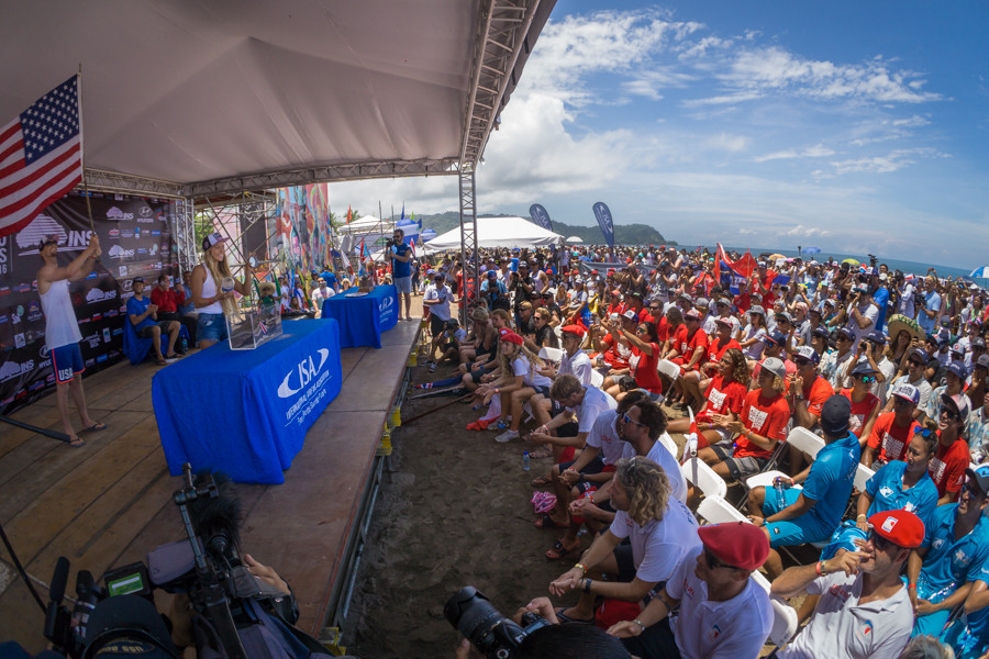 In attendance were 142 athletes from 26 National Teams as well as a host of dignitaries ©ISA