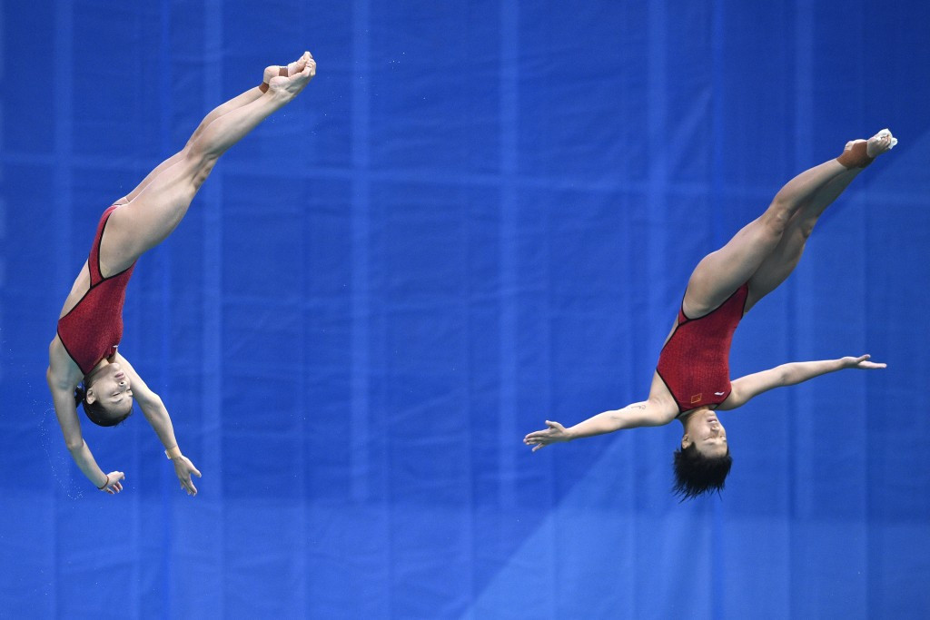 The Chinese pair dominated from start to finish on their way to Olympic gold at Rio 2016 ©Getty Images