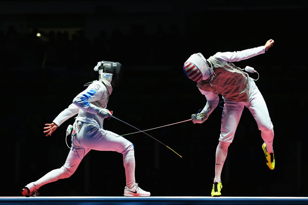 Italian celebrates in style after shock foil fencing win over world number one