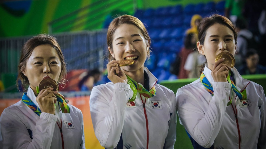 South Korea win eighth consecutive women's team archery Olympic title