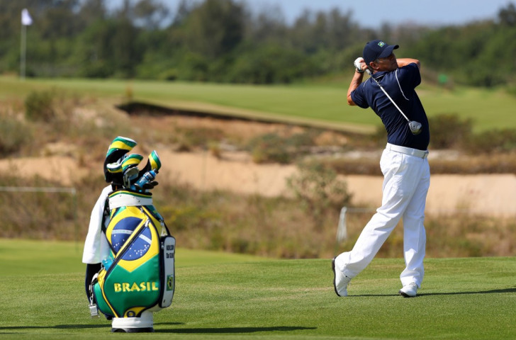 Brazil's Adilson da Silva, pictured practising on the Olympic Golf Course last week, will be the first golfer to strike a ball in Olympic competition in 112 years when he tees off in the first round on Thursday ©Getty Images