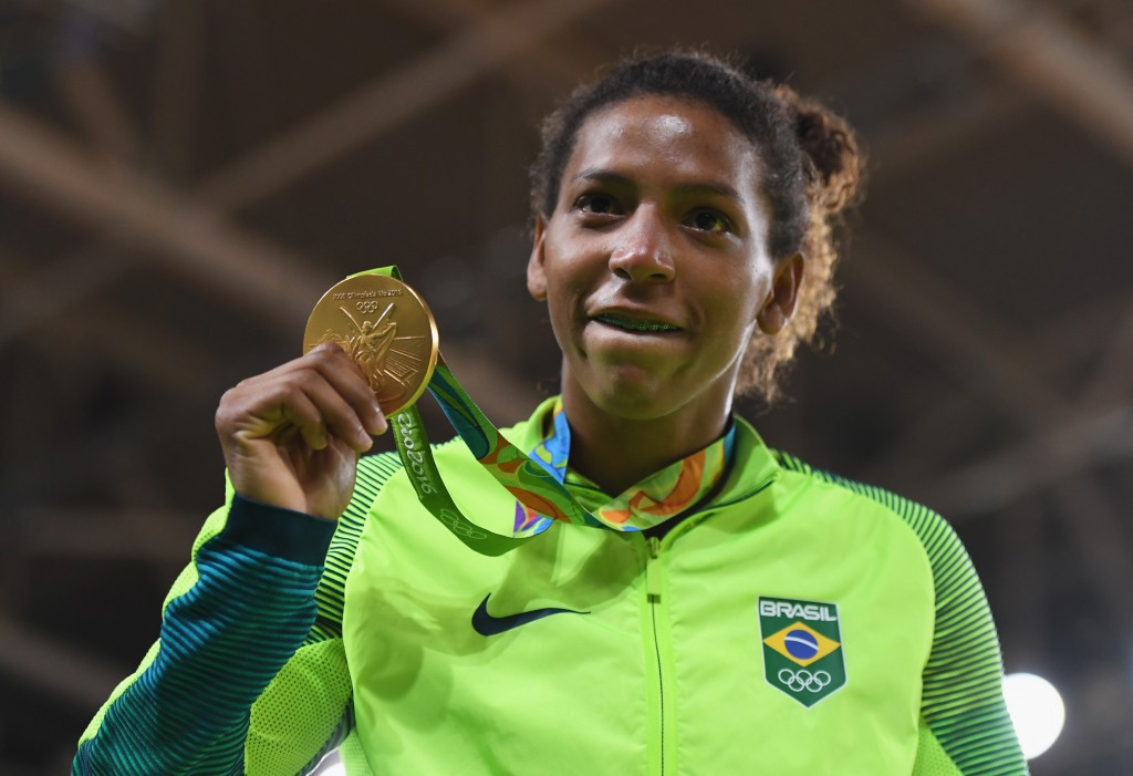 Rafaela Silva claimed the first home gold medal of Rio 2016 ©Getty Images